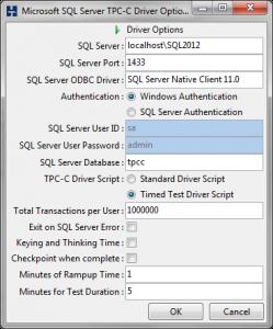 HammerDB_DriverScript