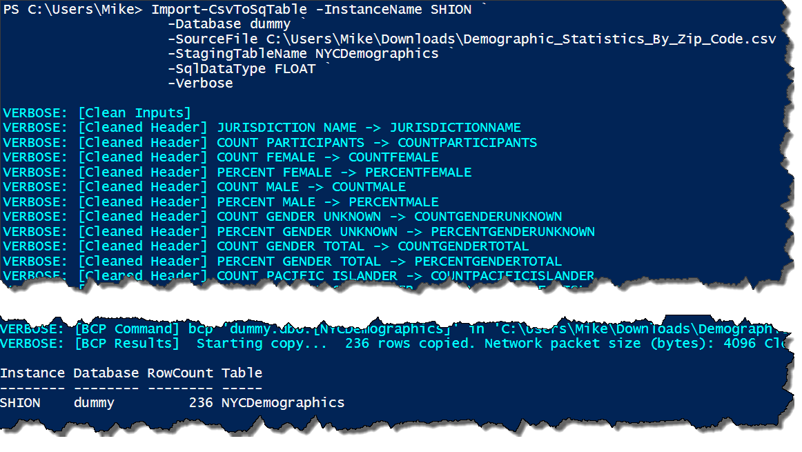 Dynamic CSV Imports with #Powershell | Art of the DBA
